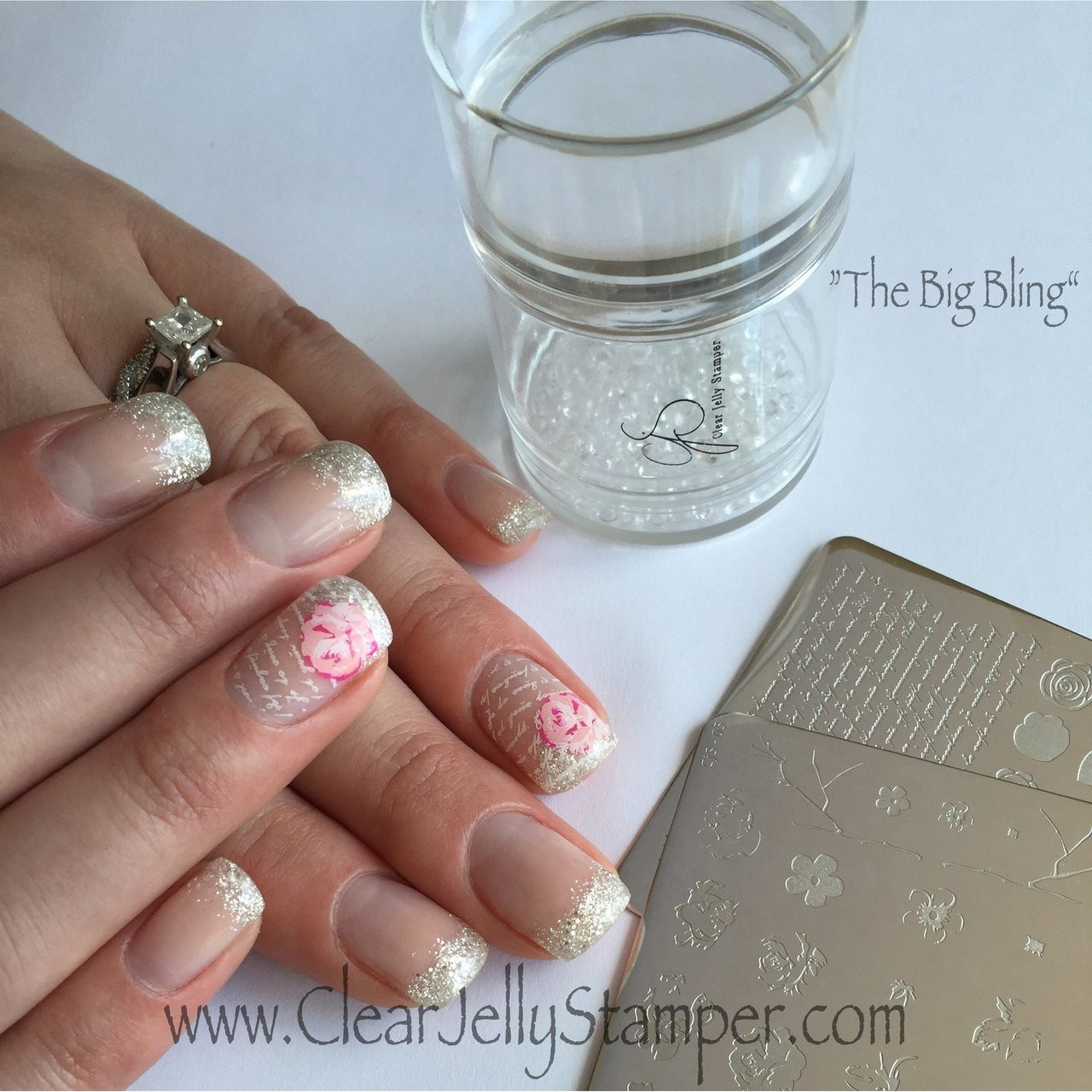 Clear Jelly Stamper Big Bling stamper, available in the USA at www.lanternandwren.com.