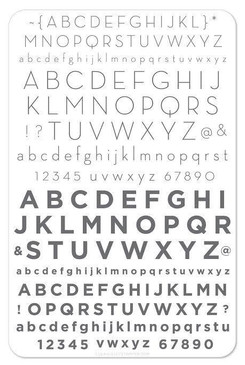 Clear Jelly Stamper Modern Alphabet stamping plate, available in the USA at www.lanternandwren.com.