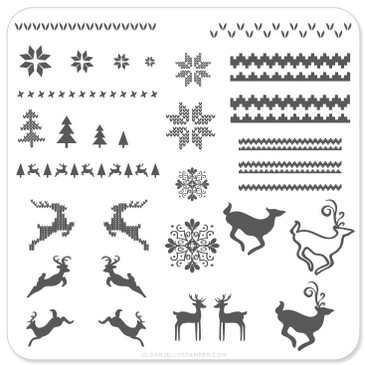 Christmas Sweater mini nail stamping plate by Clear Jelly Stamper, available on www.lanternandwren.com.