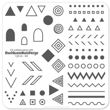 Tribal mini nail stamping plate by Clear Jelly Stamper, available on www.lanternandwren.com.