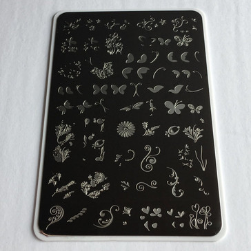 Clear Jelly Stamper Serendipity nail stamping plate, available in the USA at www.lanternandwren.com.