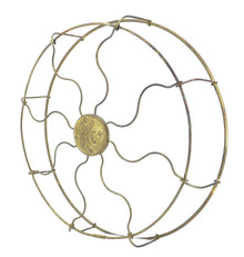 "Original 12"" Brass GE Drop Ring Wrapped Cage"