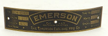 ORIGINAL EMERSON 11644 MOTOR TAG
