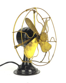 "8"" General Electric GE All Brass Desk Fan"