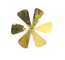 "12"" Dayton 6 Wing Blade for Tab Footed Model Cast Brass Hub"