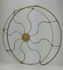 "Original 16"" 8 Wire GE Pancake Brass Cage"