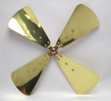 "Original 16"" Brass Blade for Dayton Polished and Lacquered"