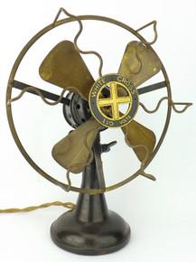 Original Lindstrom Smith Co White Cross Fan