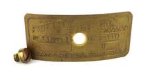 "Original Brass Motor Tag for 12"" Fidelity Yoke Mount"
