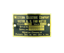 "Western Electric Victor 12"" Lollipop Motor Tag 105452A"