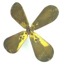 """Original 12"""" 4 Wing Brass Blade R&M Stepped Shaft Balanced"""