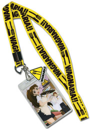 Wagnaria!! Working Lanyard ID Holder with Charm