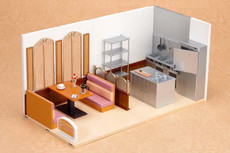 WORKING!! Nendoroid Playset #05 Wagnaria Set A (Guest Seating) & B (Kitchen)
