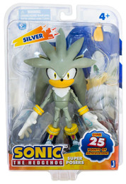 """Sonic The Hedgehog: Super Poser Sonic Silver 6"""" Action Figure"""