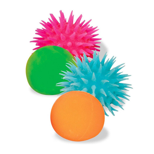 Squishy Spiky Ball : Neon Inside Out Ball: Fun Tactile Toy or Fidget for Special Needs