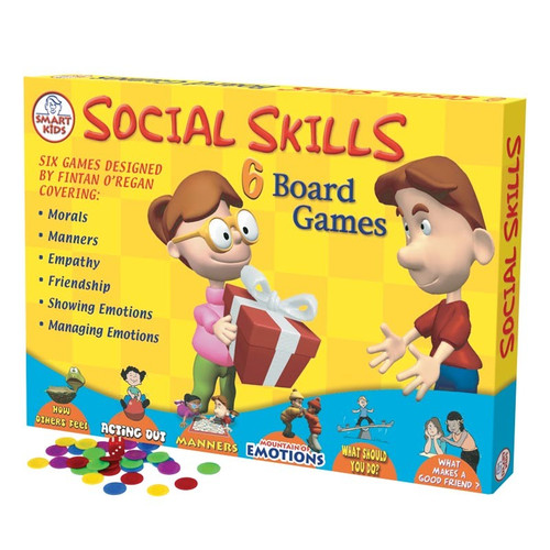 Social Skills Set of 6 Board Games Best Seller!