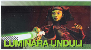 Star Wars Clone Wars Widevision Foil Luminara Unduli