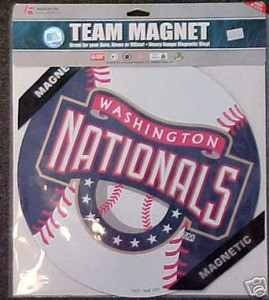 "Washington Nationals MLB Licensed 12"" Car Magnet"
