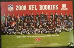 2008 NFL Rookies Poster 37 Rookies Flacco