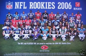 2006 NFL Football Rookie 11 X 17 Poster w/ Bush Young +