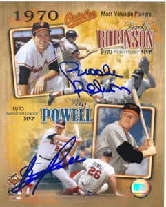 Boog Powell & Brooks Robinson Autographed 11x14 Photo