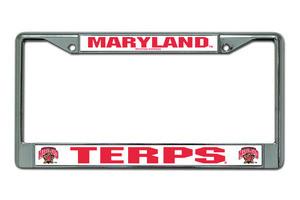 Maryland Terrapins Metal License Frame