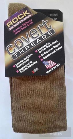 Covert Threads GROUND POUNDER Military Boot Socks LG CB 2310