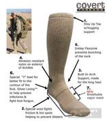 Covert Threads DESERT Military Boot Socks LG SD 5157