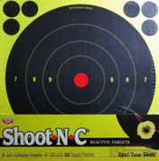 "Birchwood Casey Shoot-N-C 8"" Reactive Targets + 60 Pasters 34804"