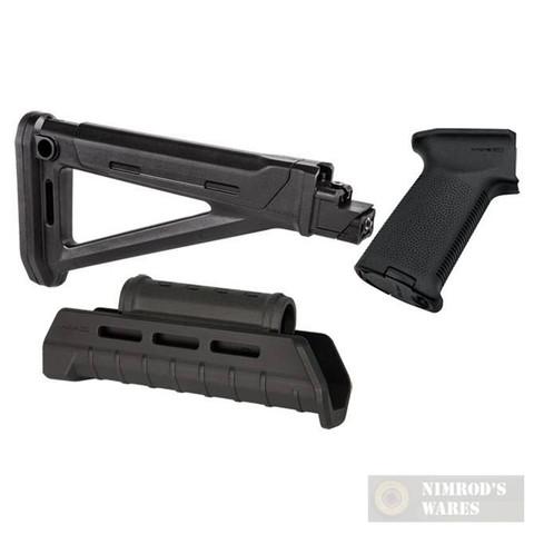 MAGPUL AK MOE Kit BLACK: Stock, Hand Guard, Pistol Grip