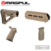 MAGPUL AR M-LOK MOE KIT Mil-Spec FDE - Stock / Hand Guard / Pistol Grip / Vertical Grip