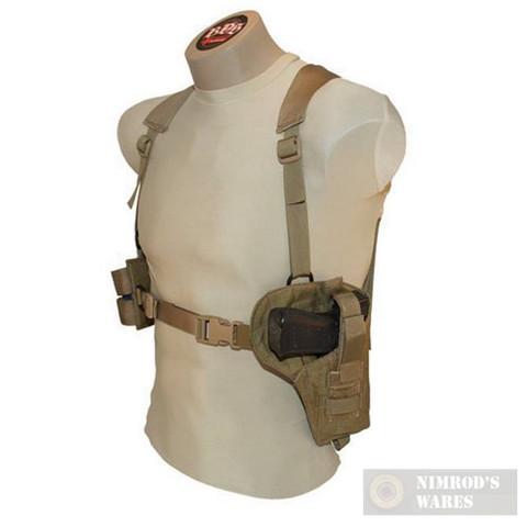 BDS Tactical Universal Shoulder Holster + 2 Magazine Pouches TSHR-DT