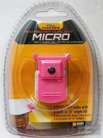 CYCLOPS Micro Hat Clip LIGHT 5 LED's PINK CYC-MHCPNK-W