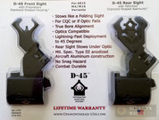 DIAMONDHEAD D-45 ISS 45-degree Off-Set Swing Sights SET 1799