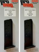 2-PACK ProMag Beretta 3032 Tomcat .32 ACP 7 Round Magazine BER10