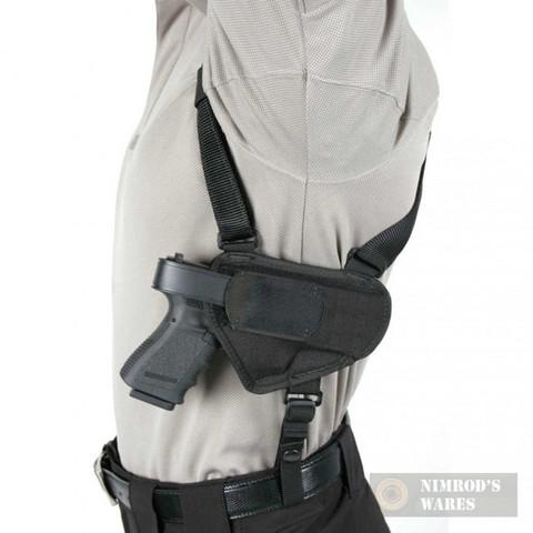 "BLACKHAWK Horizontal Shoulder Holster Med/Lg Pistol 3.25-3.75"" Barrel 40HS16BKLG"