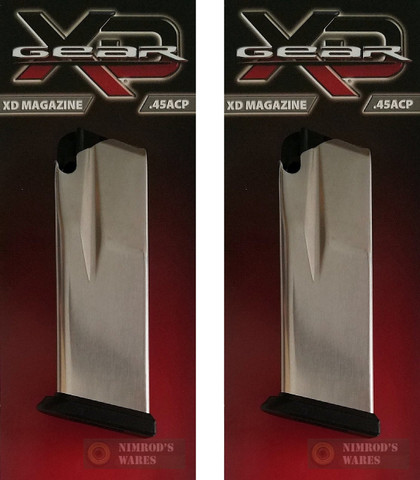 2-PACK SPRINGFIELD XD Compact .45 ACP 10 Round Magazines OEM XD4501
