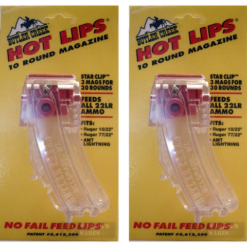 2-Pack Butler Creek Hot Lips Ruger 10/22 10 Round Magazines HL-10CL