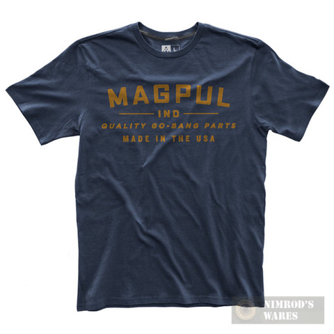 """MAGPUL """"Quality Go-Bang Parts"""" T-Shirt NVY MED MAG740-410-M"""