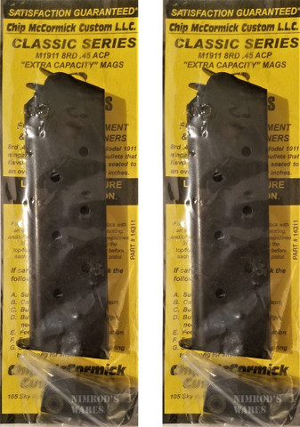 Chip McCormick 14311 CLASSIC Mil-Spec 1911 45ACP 8rd Mag with Pad