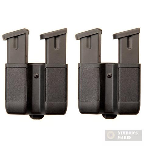 BLACKHAWK Double-Stack Magazine Case 2-PACK 9mm 40 45 10mm 357Sig 410610PBK