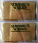 "NIMROD'S WARES Multi-Purpose Microfiber Cleaning Cloth 6""x6"" 2-PACK"
