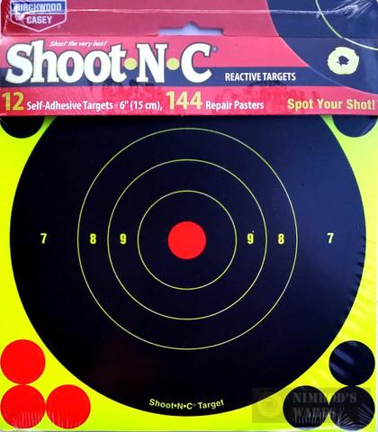 Birchwood Shoot*N*C 12 Reactive Targets 144 Pasters 34512
