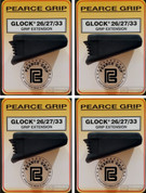 4-PACK Pearce Grip PG-2733 GLOCK 26/27/33/39 Grip Extensions PLUS