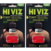 HiViz LITEWAVE™ Ruger GP100 Interchangeable Front Sight GPLW01 2-PACK