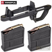 MAGPUL Hunter 700 Magazine Well + Two 5 Round Mags MAG497-BLK MAG549-BLK