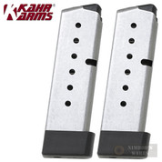 KAHR P380 CW380 .380 ACP 7 Round MAGAZINE 2-PACK w/ Extensions K387G