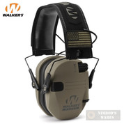Walker's RAZOR Slim Ear Muffs PATRIOT 2X Flag Patches GWP-RSEMPAT-FDE