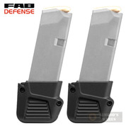 FAB Defense GLOCK 43 G43 PLUS 4 Mag EXTENSION 2-PACK 43-10