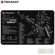 """TekMat RUGER MK IV MK 4 Armorer BENCH MAT 11""""x17"""" 17-RUGERMK4"""